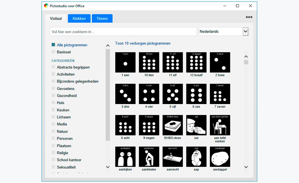 pictogrammen zoeken met pictostudio